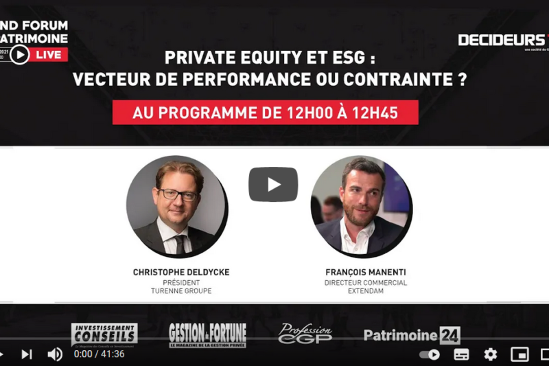 Grand Forum Live - Private Equity et ESG : vecteur de croissance ou contrainte ?