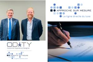 Le Groupe AsM (« Approche sur Mesure »), leader mondial sur le marché du service clients dans l'industrie du luxe, rejoint ODiTY